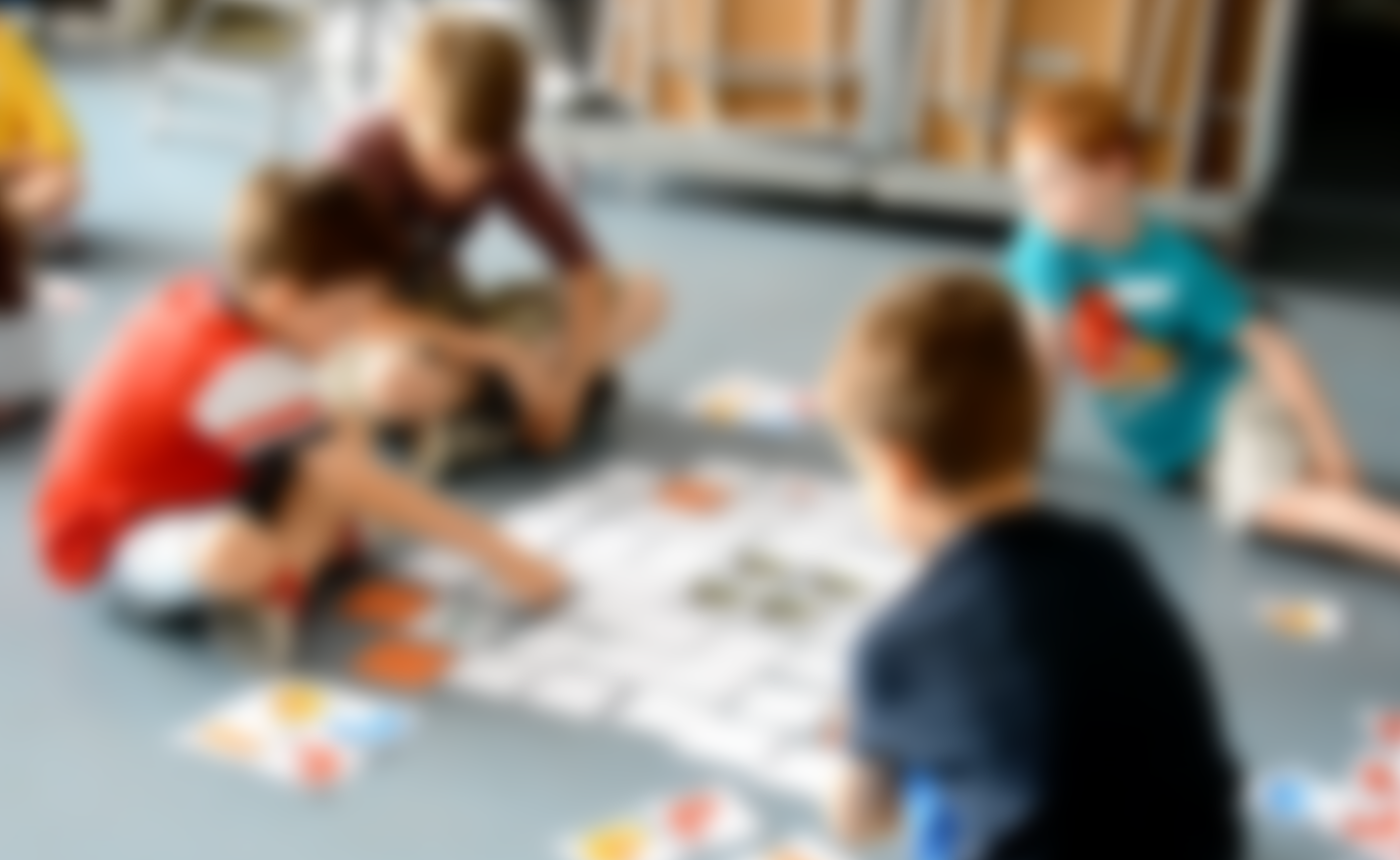 Children playing Bits and Bytes